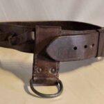 Cinturón de cuero para llevar herramientas. Ferrocarril Trasandino / Leather belt for carrying tools. Trasandino Railway