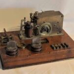 Equipo telegráfico. Ferrocarril Trasandino / Telegraph equipment. Trasandino Railway