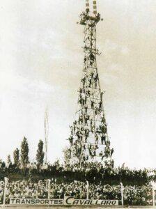 Inauguración torres de iluminación Andes Talleres, 1968