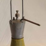 Lámpara de carburo. Ferrocarril Trasandino / Carbide lamp. Trasandino Railway