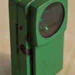 Linterna ferroviaria de tres colores. Elemento de iluminación y para hacer señales. Ferrocarril Trasandino / Three Color Railway Lantern. Lighting and signaling element. Trasandino Railway
