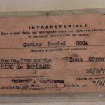 Carnet de identidad. Perteneció al Sr. Carlos Daniel Sosa, hijo de empleado ferroviario. Emitido el 7 de febrero de 1989 / Identity card. It belonged to Mr. Carlos Daniel Sosa, son of a railway employee. Issued February 7, 1989