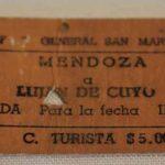 Boletos de cartón tipo Edmonson. Ferrocarril General San Martín. Tramo Mendoza – Luján de Cuyo / Edmonson Cardboard Tickets. General San Martín Railway. Section Mendoza - Luján de Cuyo