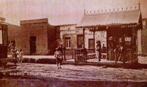 Parada tranvía San Martín y Tucumán, 1920