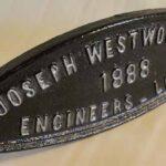 Placa de fabricante de puente Ferrocarril Trasandino Fabricado por el constructor Joseph Westwood & Company de Londres Inglaterra Año de construcción del puente 1888 /  Bridge Maker Plate Trasandino Railway Manufactured by the builder Joseph Westwood & Company of London England Bridge construction year 1888
