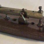 Pulsador telegráfico. Ferrocarril Trasandino / Morse telegraph key. Trasandino Railway