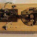 Pulsadores telegráficos. Ferrocarril General San Martín / Morse tekegraph keys. General San Martín Railway