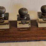 Recipientes para tinta de escribir. Ferrocarril Trasandino / Writing ink containers. Trasandino Railway