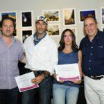 Marcelo Nrdechia y Ernesto segura con Florencia Cialone y Francisco Delgado