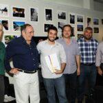 De izquierda a derecha, Daniel Barraco; Ernesto Segura, Tomás Donato, Marcelo Nardechia, Diego Gareca y Humberto Mingorance