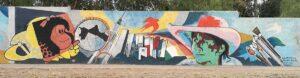 Brigada Muralista Biblioteca Alberdi - Armani entre Montes de Oca y Corredor del Oeste